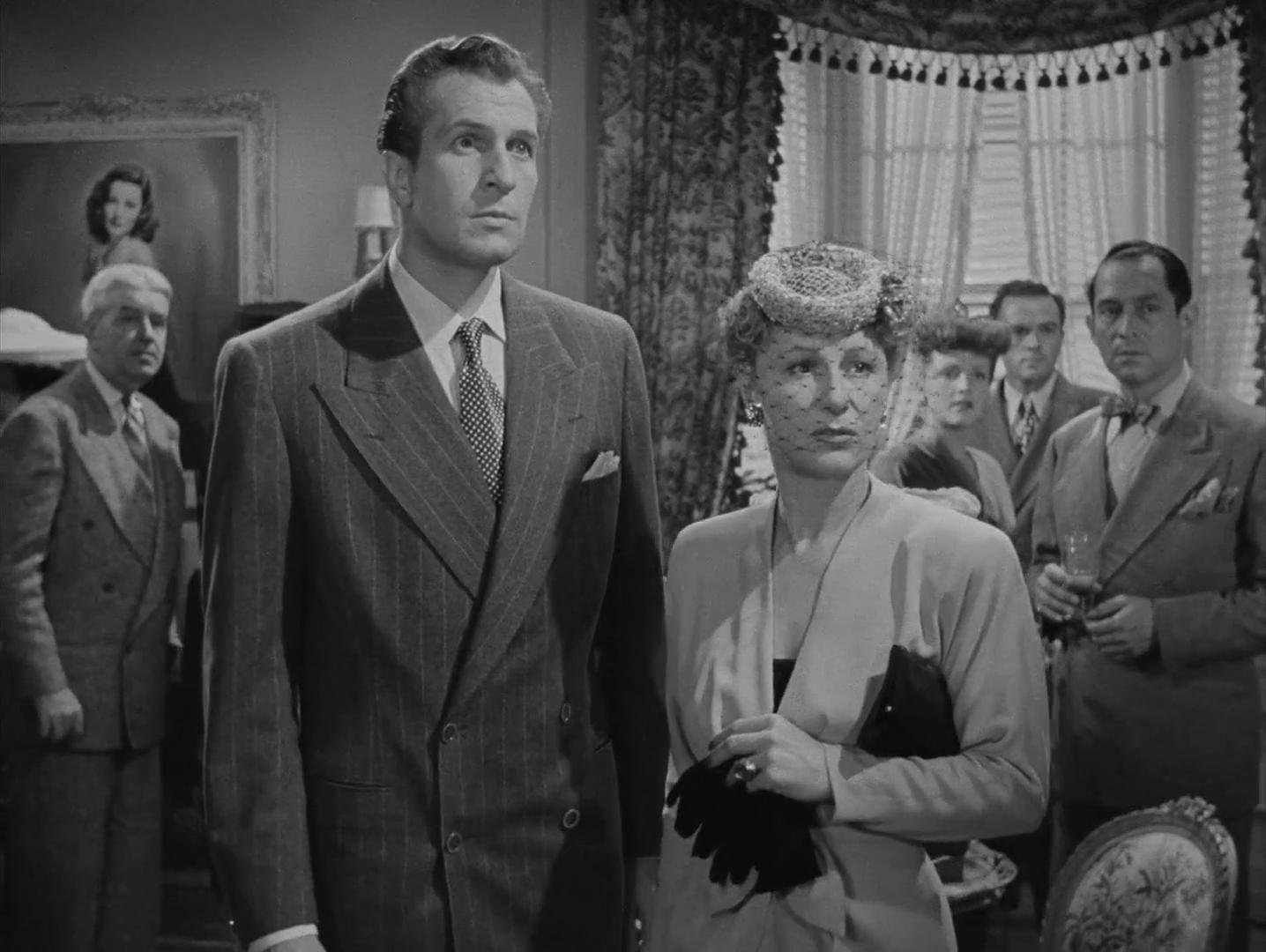 Vincent Price et Judith Anderson dans le film noir Laura (1944) d'Otto Preminger