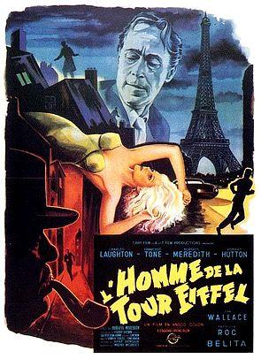 The man on the Eiffel Tower (L'homme de la Tour Eiffel, 1949) de Burgess Meredith : la poursuite sur la Tour Eiffel