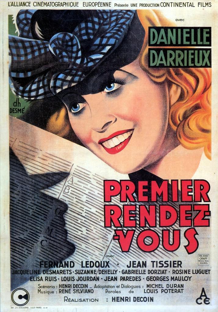Affiche du film Premier rendez-vous, avec Danielle Darrieux