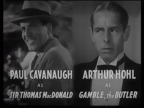The kennel murder case (Le mystère de la chambre close, 1933) de Michael Curtiz : le début et la fin
