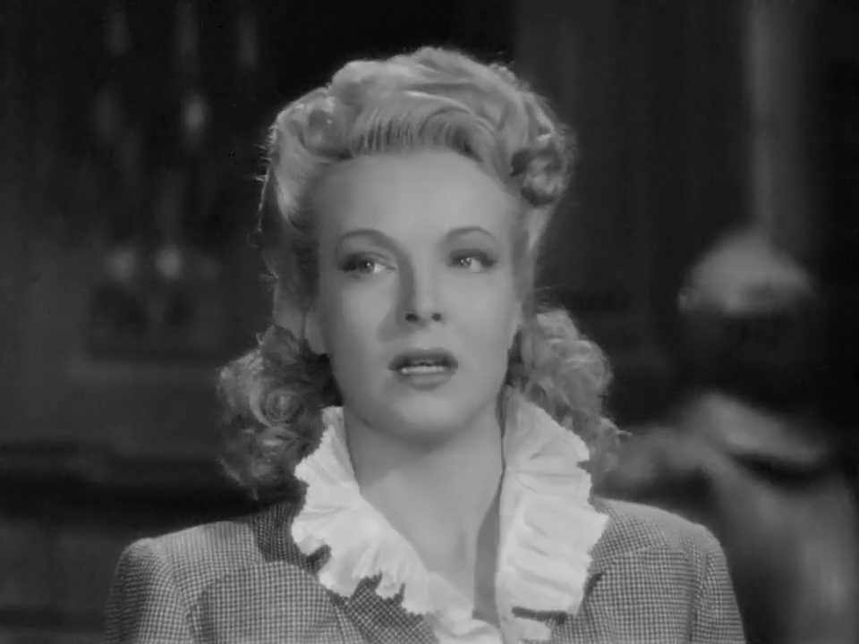 Hillary Brooke dans Sherlock Holmes faces death (Echec à la mort, 1943)