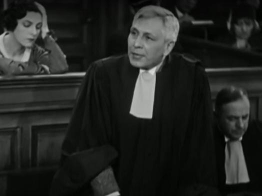 L'acteur Camille Bert dans le film Accusée, levez-vous (1930) de Maurice Tourneur