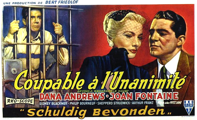 L'acteur Dana Andrews et l'actrice Joan Fontaine dans L'invraisemblable vérité