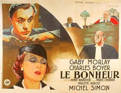 Le bonheur (1934) de Marcel L'Herbier : Gaby Morlay chante Le bonheur; et la fin