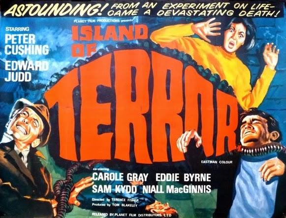 Affiche du film Island of terror (L'île de la terreur) de Terence Fisher