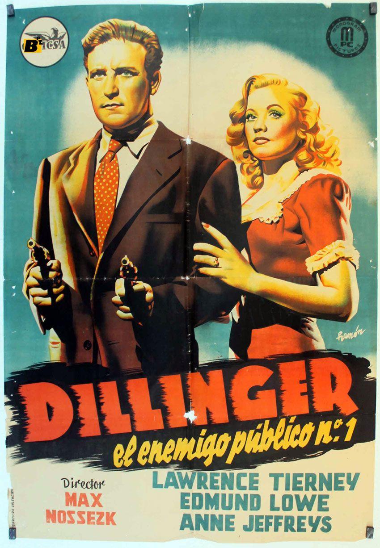 Dillinger (Dillinger, l'ennemi public n°1, 1945) de Max Nosseck : l'évasion; et la mort de Dillinger à la sortie du cinéma