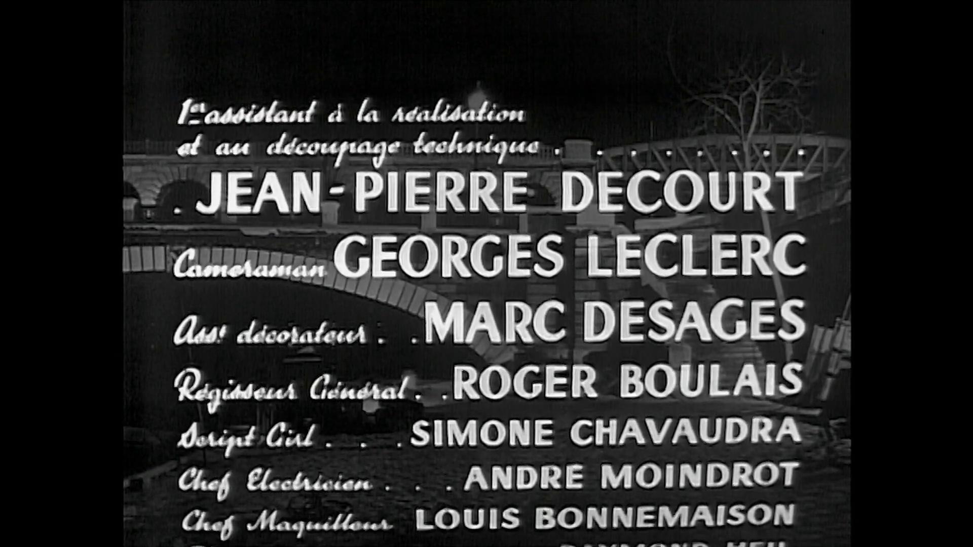 Minuit ... Quai de Bercy (1953) de Christian Stengel : la fin (HD)