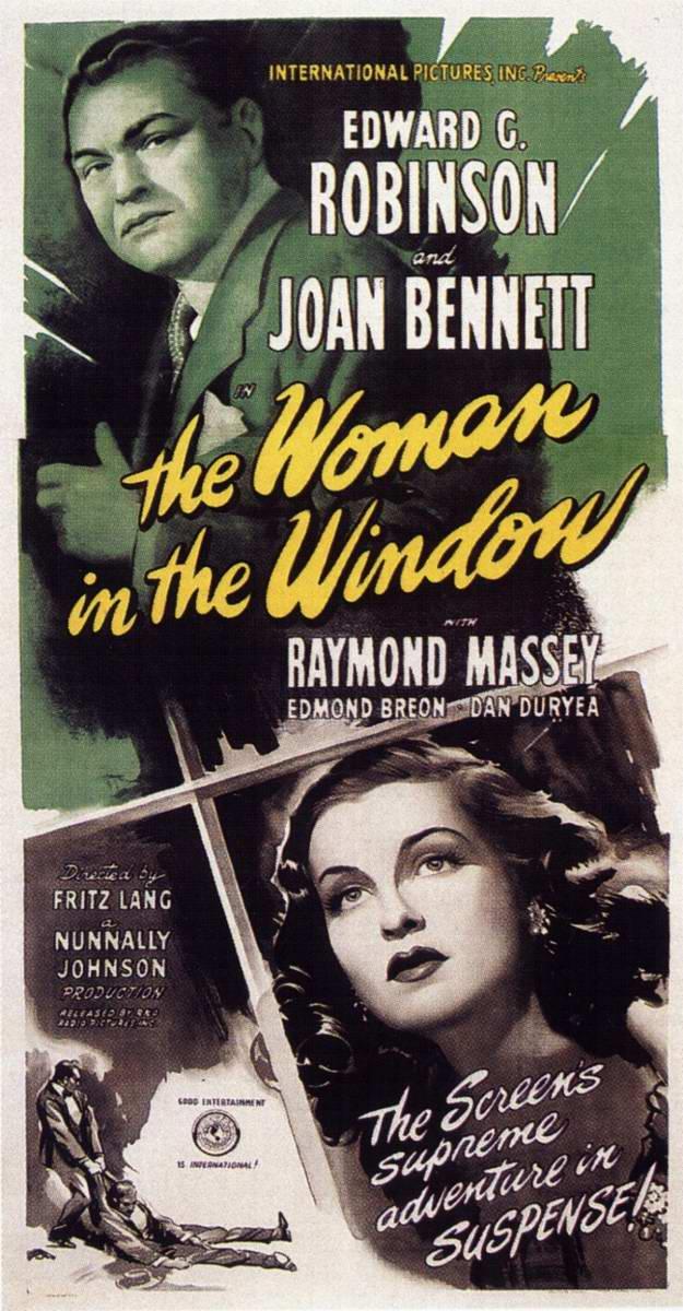 The woman in the window (La femme au portrait, 1944) de Fritz Lang : le meurtre; et la fin