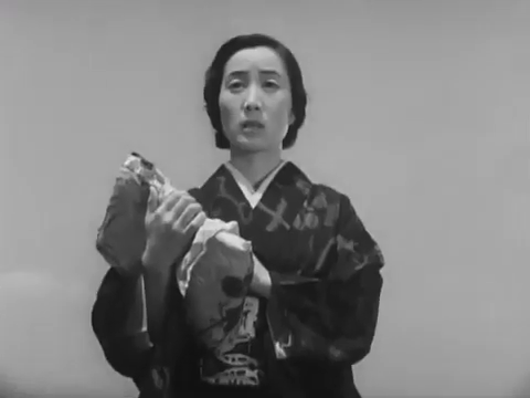 Akiko Kazami dans le film Monsieur Shosuke Ohara (1949) de Hiroshi Shimizu