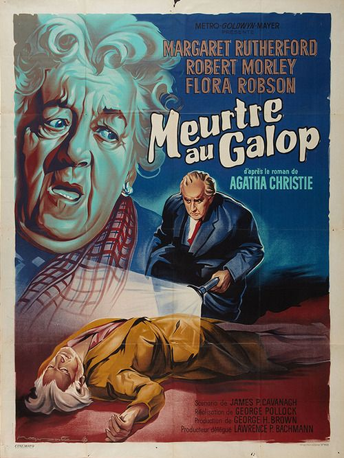 Affiche du film Murder at the Gallop (Meurtre au galop, 1963) de George Pollock