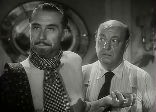 Victor Francen et Harry Baur dans le film L'homme du Niger (1940) de Jacques de Baroncelli