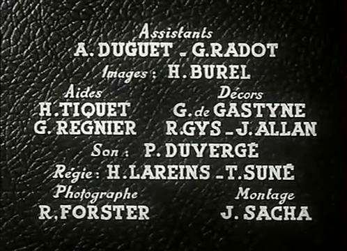 Générique du film L'homme du Niger (1940) de Jacques de Baroncelli