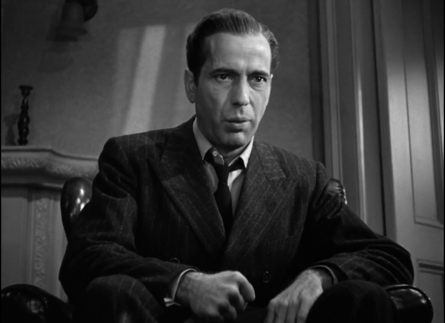 Humphrey Bogart dans The maltese falcon  (Le faucon maltais, 1941) de John Huston