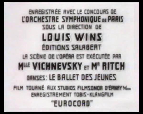Générique du film Le patriote (1938) de Maurice Tourneur