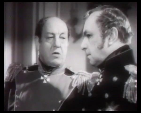 Harry Baur et Pierre Renoir dans le film Le patriote (1938) de Maurice Tourneur