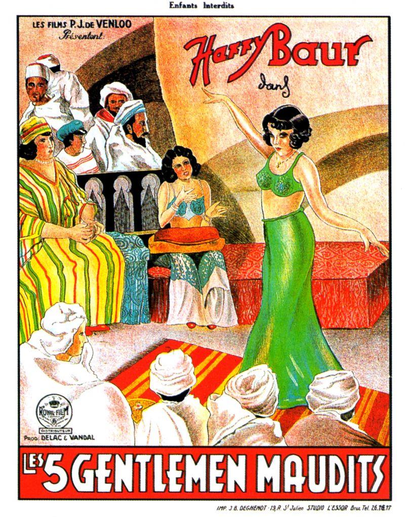 Affiche du film Les cinq gentlemen maudits (1931) de Julien Duvivier