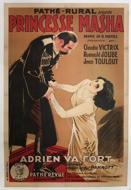 Affiche du film muet Princesse Masha (1927) de René Leprince