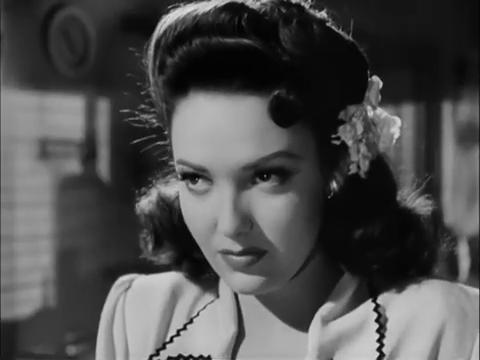 Linda Darnell dans Fallen angel (Crime passionnel, 1945) d'Otto Preminger