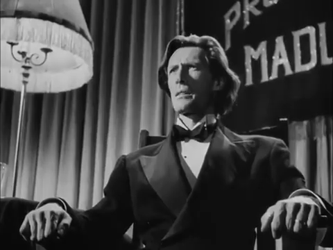 John Carradine dans le film noir Fallen angel (Crime passionnel, 1945) d'Otto Preminger