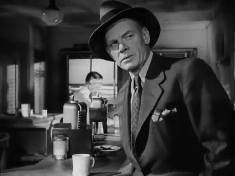Charles Bickford dans le film policier Fallen angel (Crime passionnel, 1945) d'Otto Preminger