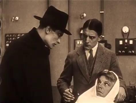 René Cresté, Edouard Mathé et Louis Leubas dans le film Judex (1916) de Louis Feuillade