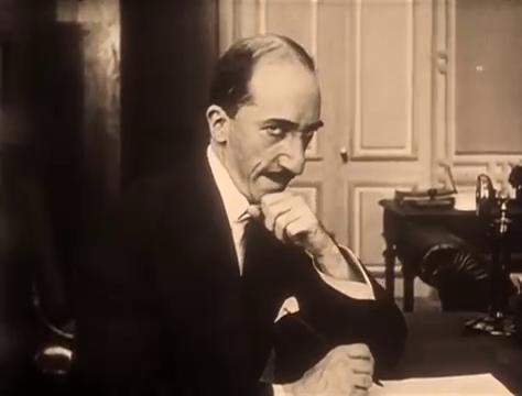 Marcel Lévesque dans le film muet Judex (1916) de Louis Feuillade