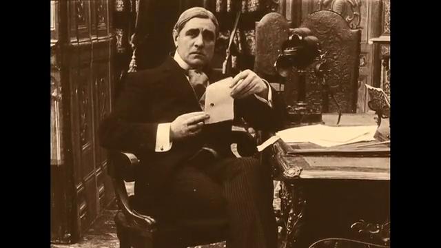 L'acteur Charles Krauss dans le film muet Protéa (1913) de Victorin Jasset