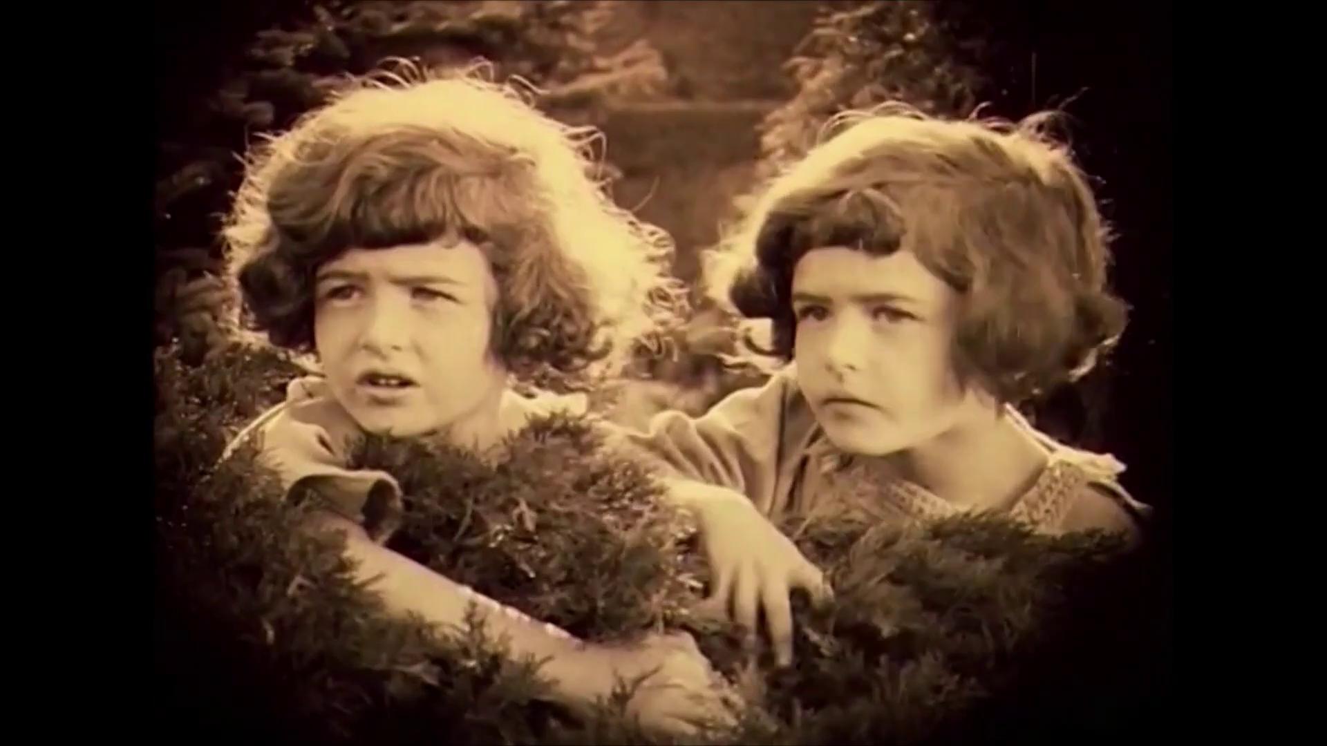Les jumeaux Barry dans le film muet hongrois Egy fiúnak a fele (1924) de Géza von Bolváry