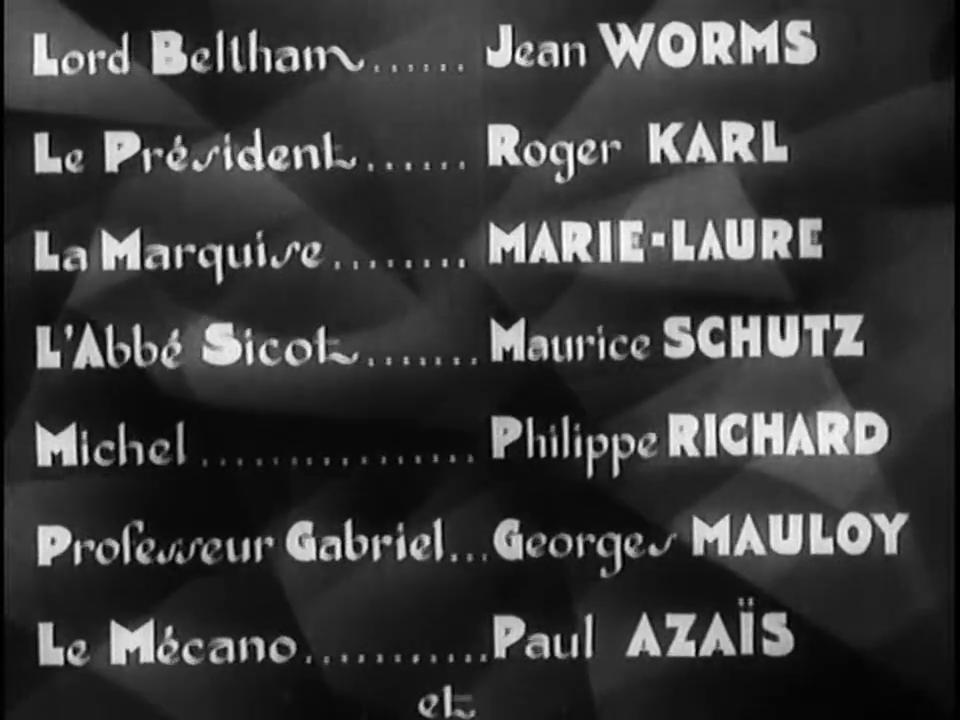 Générique du film Fantômas (1932) de Paul Féjos