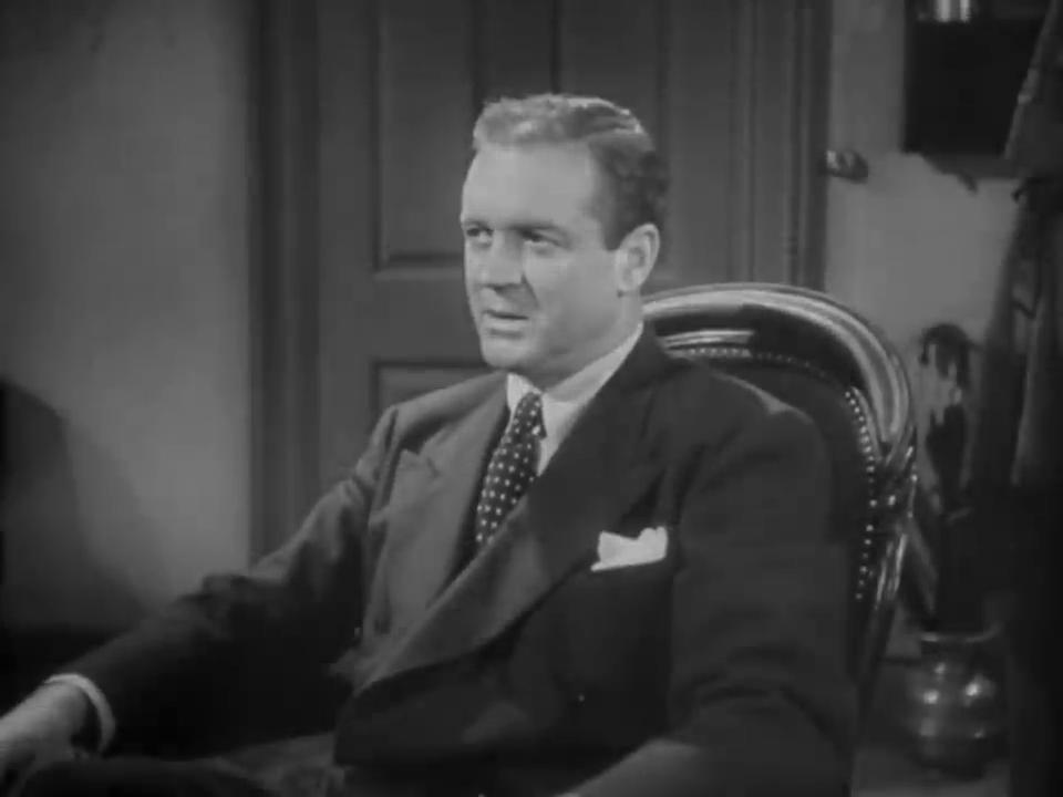 Gavin Muir est Chalmers dans le film policier The house of fear (La maison de la peur, 1945) de Roy William Neill