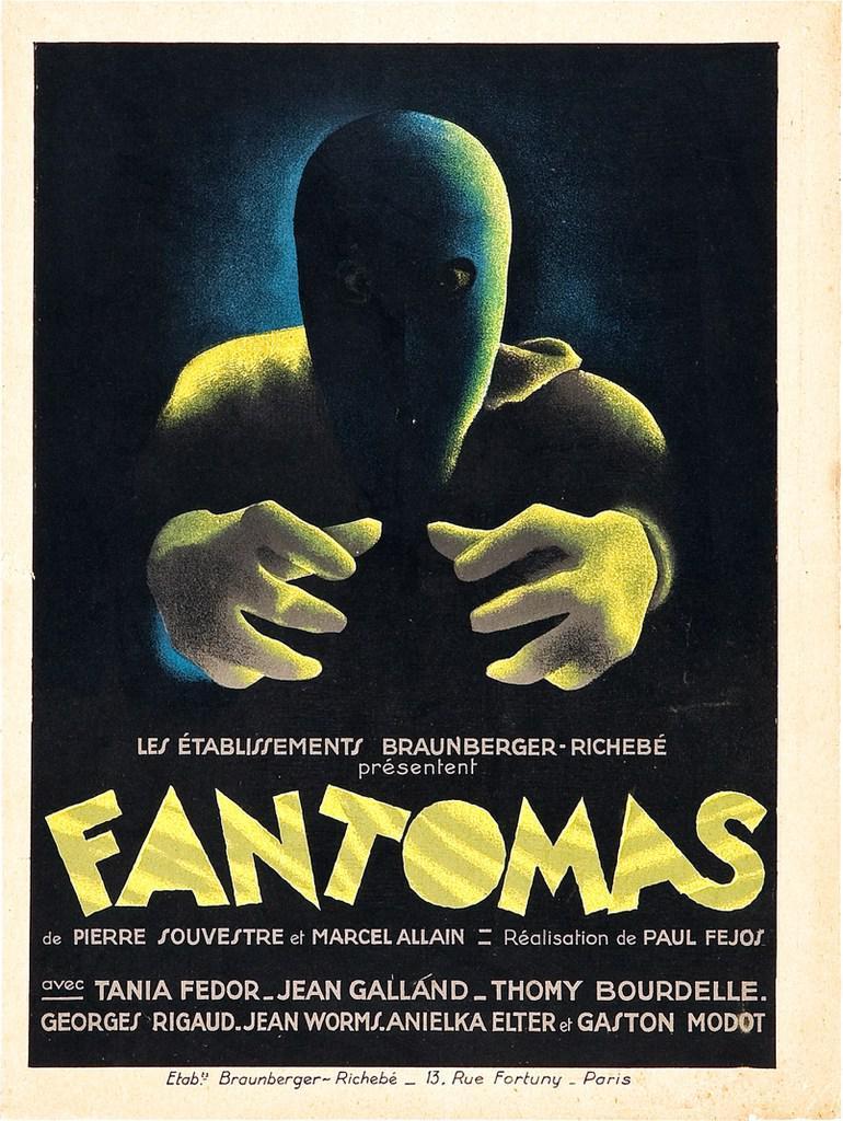 Affiche du film Fantômas (1932) de Paul Féjos