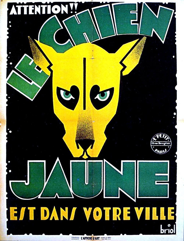 Affiche du film Le chien jaune (1932) de Jean Tarride