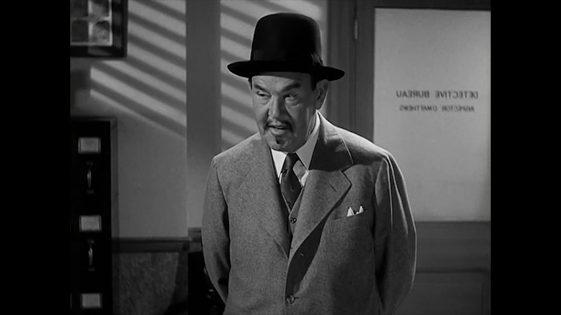 Sidney Toler est Charlie Chan dans le film Charlie Chan at the Wax museum (1940) de Lynn Shores