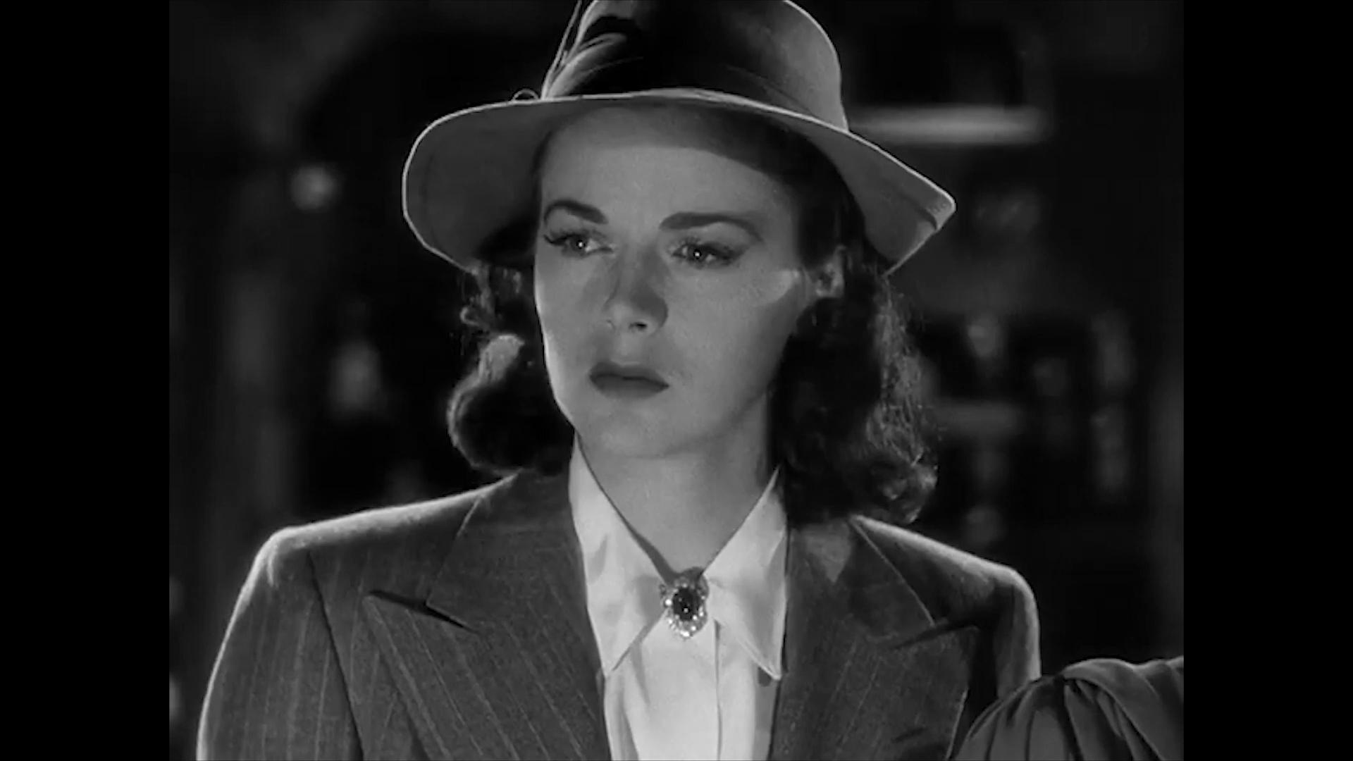 Marguerite Chapman dans le film policier Charlie Chan at the Wax museum (1940) de Lynn Shores