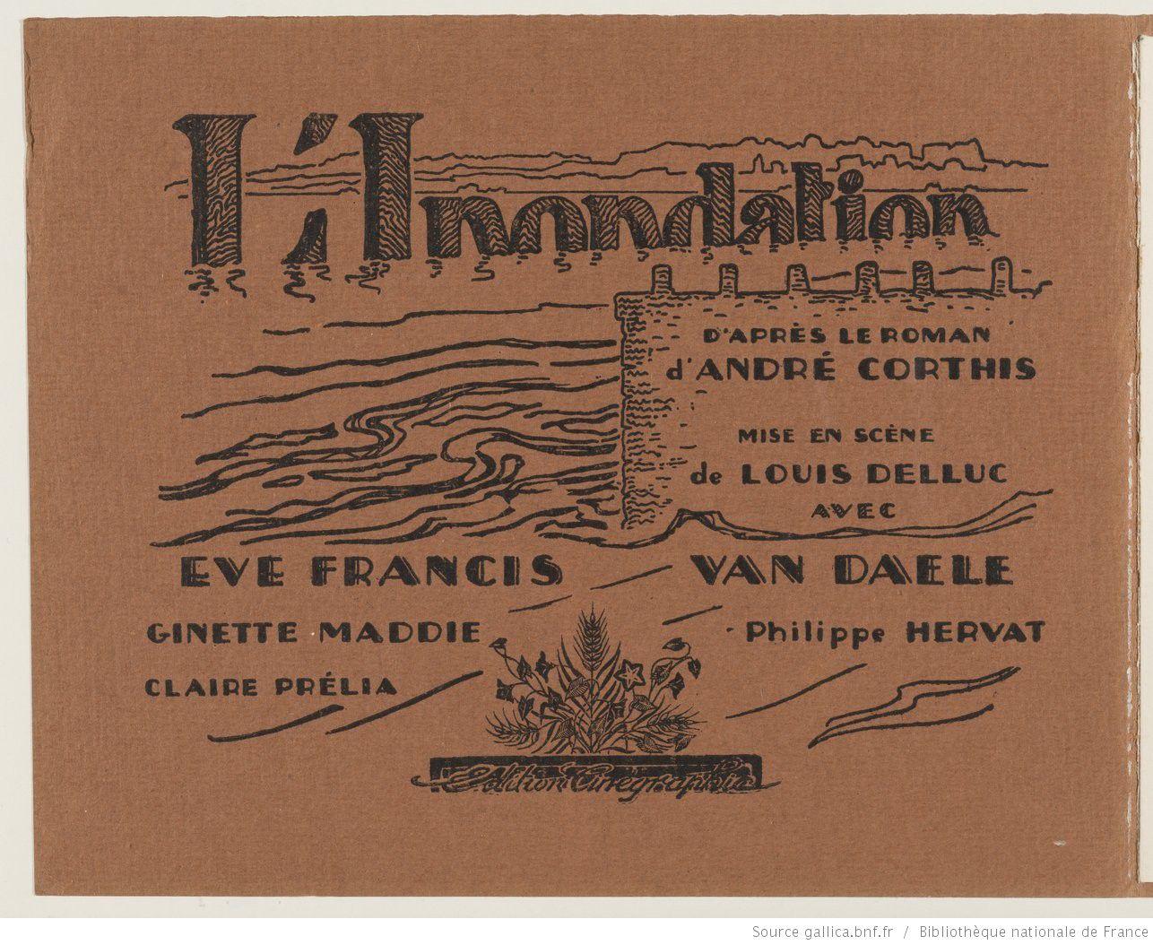 Affiche du film L'inondation (1924) de Louis Delluc