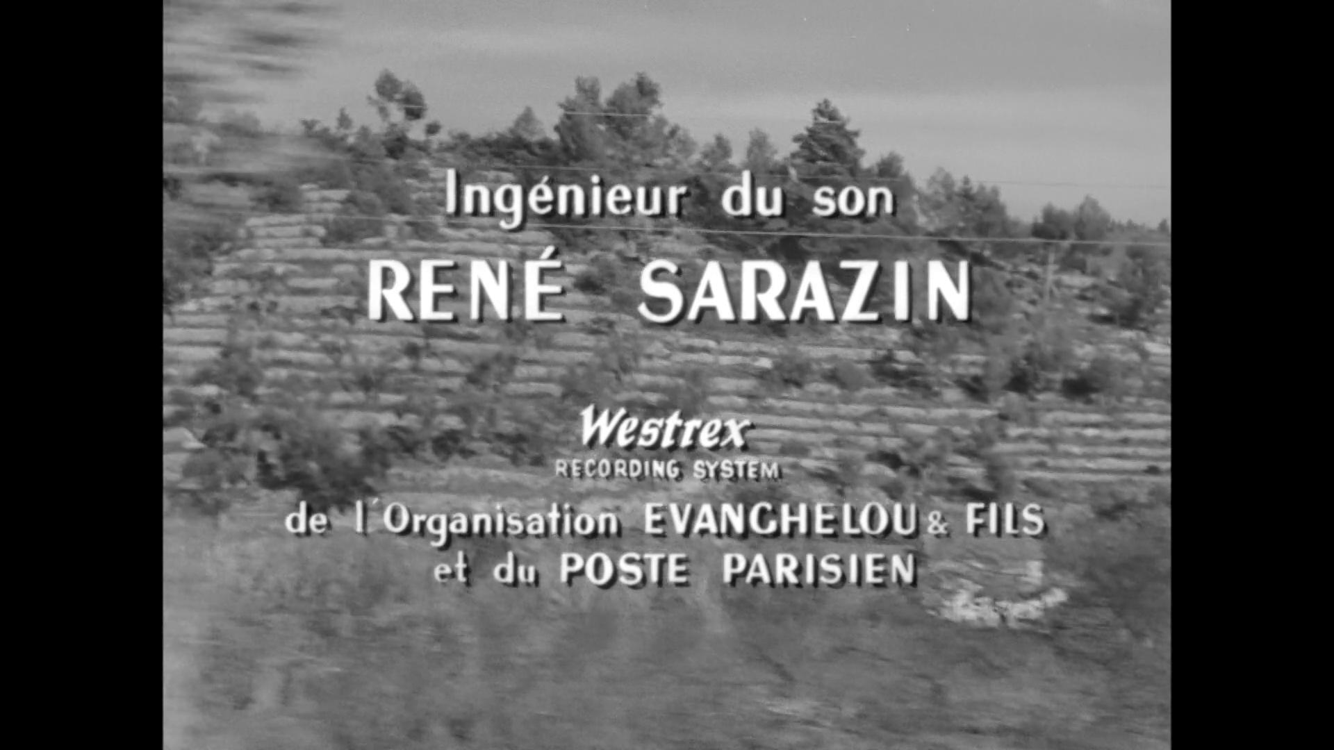 Générique du film Le cas du docteur Laurent (1957) de Jean-Paul Le Chanois