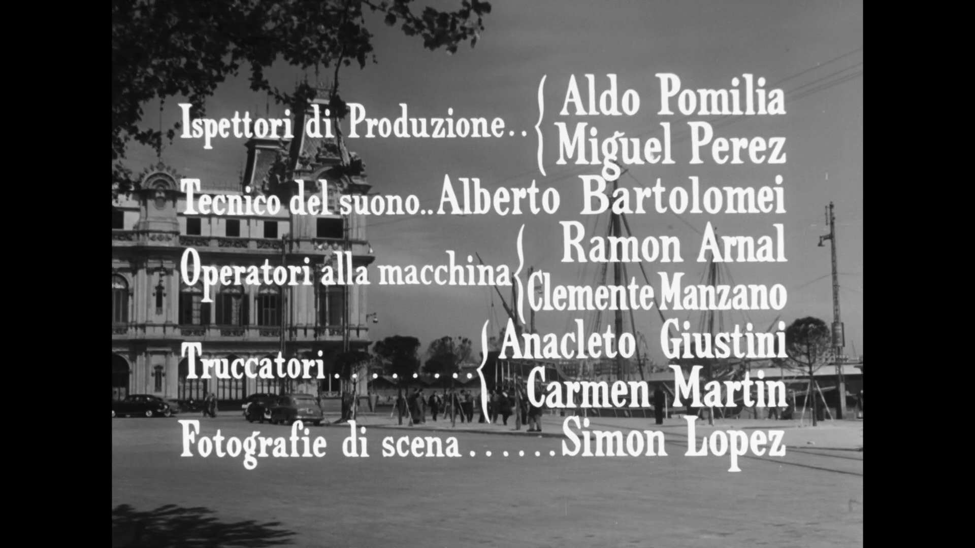 Générique du film Malinconico autunno (1958) de Raffaello Matarazzo