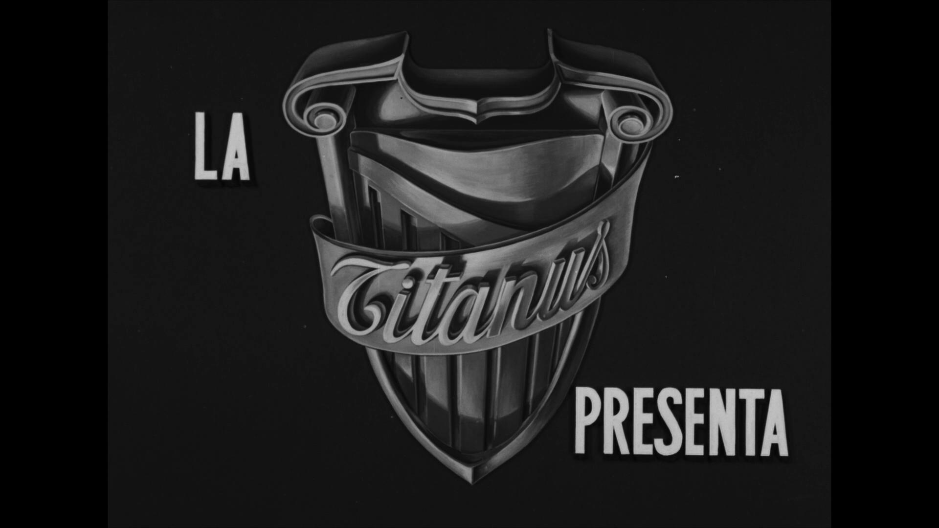 Logo de la Titanus dans le générique du film Malinconico autunno (1958) de Raffaello Matarazzo