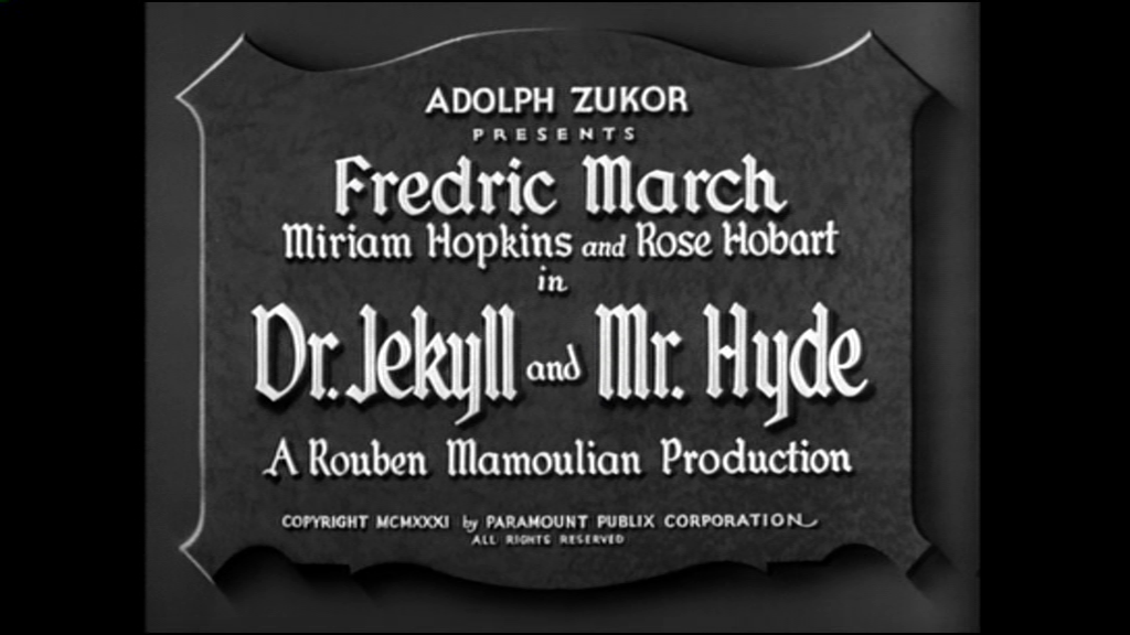 Doctor Jekyll and mister Hyde : l'action se situe au 19e siècle