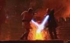 Le duel final sur la planète volcanique Mustaphar